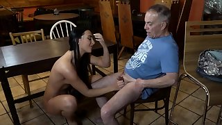 Elderly young slave and girl friend feet first time Can you
