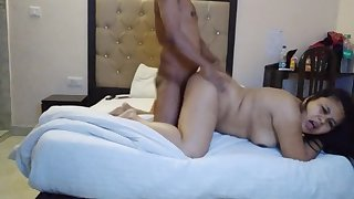 Ohh my God, girlfriend in hotel enjoying, with hindi audio