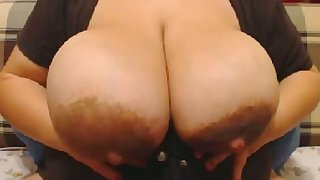 This BBW's rack is a great gifts to mankind and this whore loves masturbating