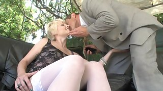 Russian bigwig banging inviting blond mademoiselle