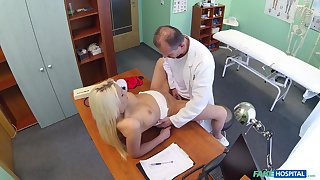 Doctor unfathomable cavity fucks blonde patient in intense scenes