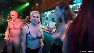 Drunk party Orgy public flashing