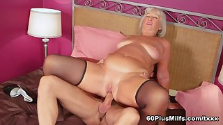 First A Dildo, Then A Cock For Jeannie Lou's Botheration - Jeannie Lou And Patrician D'sergio - 60PlusMilfs